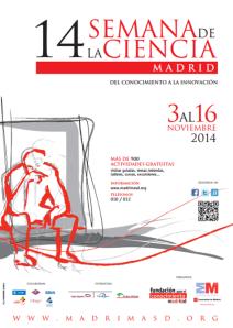 Cartel Semana de la Ciencia Madrid 2014
